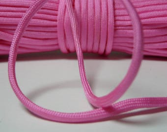 Rope paracord, candy pink 550 Paracord rope 4 mm 7 strand by the yard