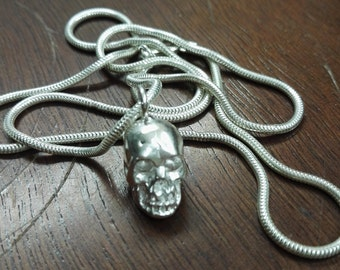 Realistic detailed Skull 935 Silver