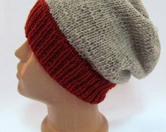 Chunky Knit  , Winter Slouchy Hat, Knitted Winter hat, Woman's knit, slouchy hat , Chunky, Beret, Winter Ski,Oversized Hat,