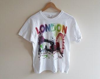 Vintage London t shirt, screen stars t, vintage shirts, vintage UK shirt