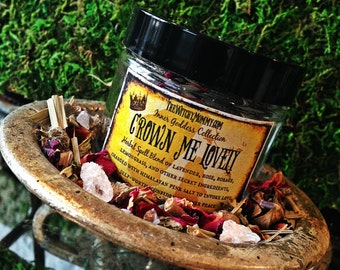 CROWN ME LOVELY Herbal Spell Blend -  Inner Goddess Collection, Witches Cabinet, Herbal Apothecary, Ritual, Meditation