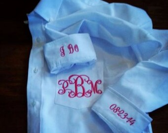 Bridal Party Button Down Shirts- hair/make up, photos, etc! *PLEASE read ALL details*