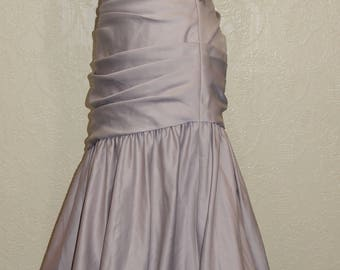 new long LATTE MOCHA BRIDAL Satin Trumpet Gown sz 12 Mother Of The Bride Dress bridesmaid gown