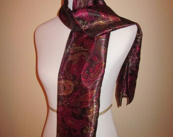 Lovely Purple/Gold Paisley Scarf