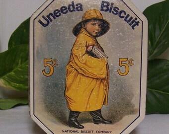 Uneeda Biscuit Tin, Uneeda Biscuit Collector Tin, 1980's Collector Tin, National Biscuit Company