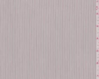 Ivory Pinstripe Shirting, Fabric By The Yard