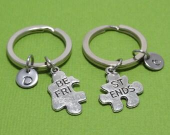 Best Friends Keychain, Best Friends Gift, Best Friends Puzzle, BFF Keychain, Couple Gift, Couple Keychain, Friendship Keychain, Personalized