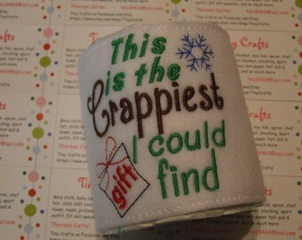 This is the Crappiest Gift I could Find Toilet Paper Wrap Office Party Gag Gift White Elephant Exchange
