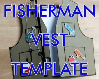 SVG PDF Handmade Fishing Birthday Vest Card For Dad