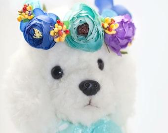 NEW ! Cat Flower Crown, Dog Flower Crown, Pet Flower Crown