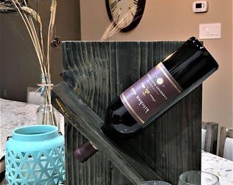 One Bottle Hanging Wine Rack-2 Glass Holder