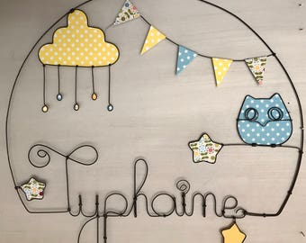 Wire name personalized wall decor for kids and baby room