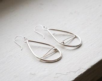 Lightweight Dreamcatcher Inspired Sterling Silver Earrings