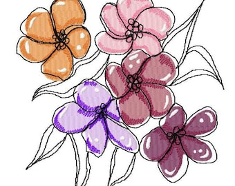 Flower Art Machine Embroidery Designs..3152