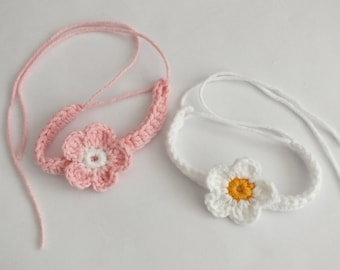 Twin ID bracelets / anklets ,Baby -Newborn Crochet Adjustable hospital id /  white and pink cotton yarn  - color options - 2 pcs