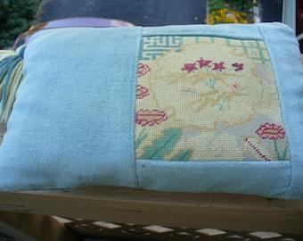 Vintage Needlepoint Pillow