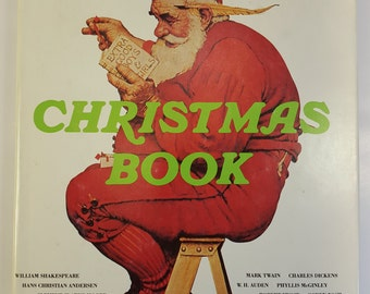 Norman Rockwell's Christmas Book, 1977, Vintage Hardcover Coffee Table Book