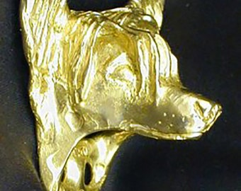 Custom Bronze Chinese Crested J-Hook Handmade to Order Genuine Cast Bronze Sculpture Any Breed Available