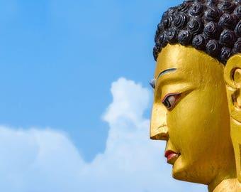 Nepal Photography, The Buddha, Wall Art, Large Print, Buddha Art Print, Rich Colors