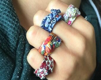 Liberty-Cloth Knot Ring