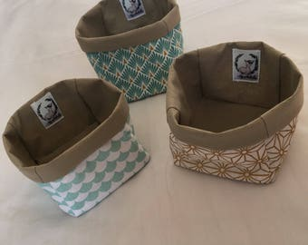 Small fabric storage basket
