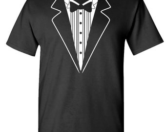 TUXEDO TUX FUNNY Wedding Bachelor t-shirt tee shirt short or long sleeve your choice! all sizes many colors