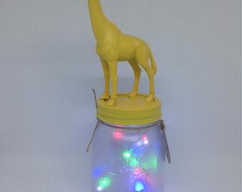 Giraffe  Mason Jar night light, baby room