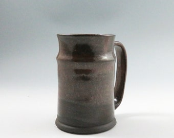 Large Red Brown Ceramic Pottery Mug,Stein Style Brown Pottery Mug,Ready to Ship,Unique pottery Mug,Unusual Ceramic Mug,Red Mug,Beer Mug