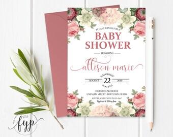Boho Baby Shower Invitation Printable