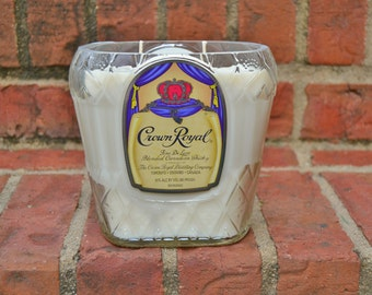 Crown Royal Whisky Bottle Candle made with soy wax