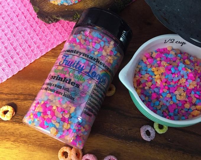 Fruity Loops - Bubble Bath Sprinkles - Bubbling Salt Soak - Vegan Friendly Bubble Bath-