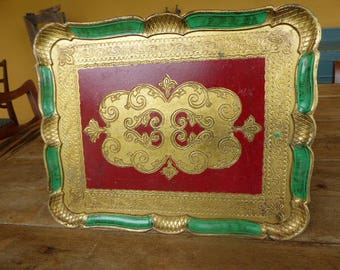 Italian Style Florentine Tray, Plastic Tray, Kitchenalia, 0917012-259