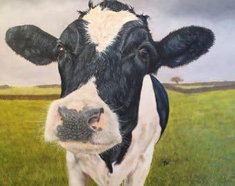 Original Ölgemälde von Kuh