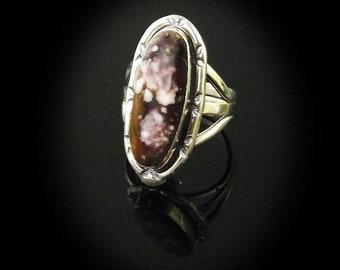 Dark Chocolate Wild Horse Magnesite Ring