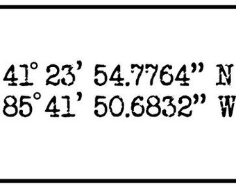 Custom Coordinates Printable Download