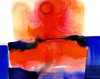 Watercolor Abstraction 125 .. Original abstract watercolor painting by Kathy Morton Stanion EBSQ