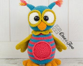 Quinn the Owl Amigurumi - PDF Crochet Pattern - Instant Download - Amigurumi crochet Cuddy Stuff Plush