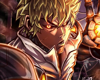 Genos / One-Punch Man / One PunchMan / Anime Manga / Quality Art Print