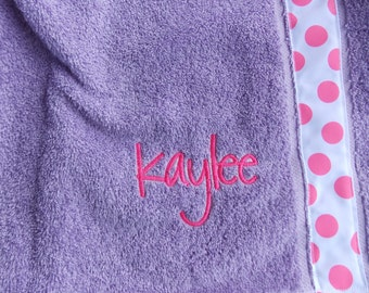 Now with straps  Women's Little girls  personalized spa  towel wrap bath and Beach cover up graduation gifts monogram  towel Now with Snaps