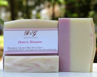 Cherry Blossom fragrance soap / Handmade soap bar / Cold process soap bar / Vegan Soap / Gift ideas / Mother's day gift