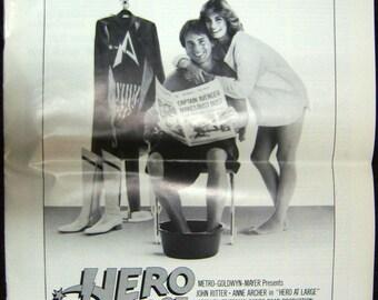 "Pressbook for the 1980 John Ritter film ""Hero at Large"""