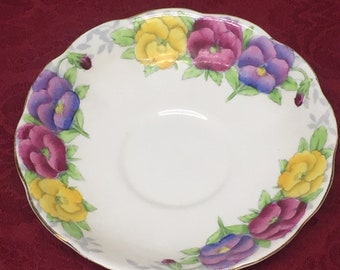 Royal Albert Bone China Saucer Pansies