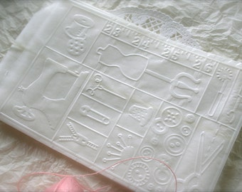 25 Glassine Bags,  Sewing Collage