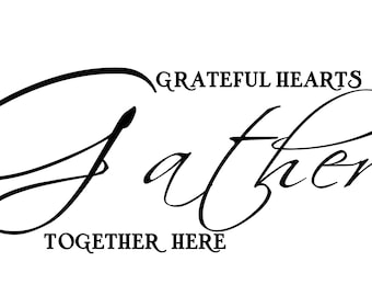 Grateful Hearts wall decal