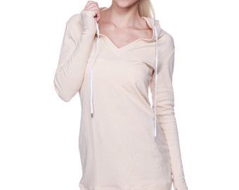 Women's Long Body Hoodie Top (Solid Colors)