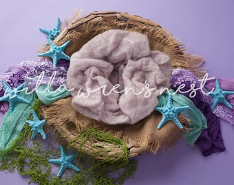 Purple Mermaid/Under the Sea Digital Backdrop for Newborn Photography