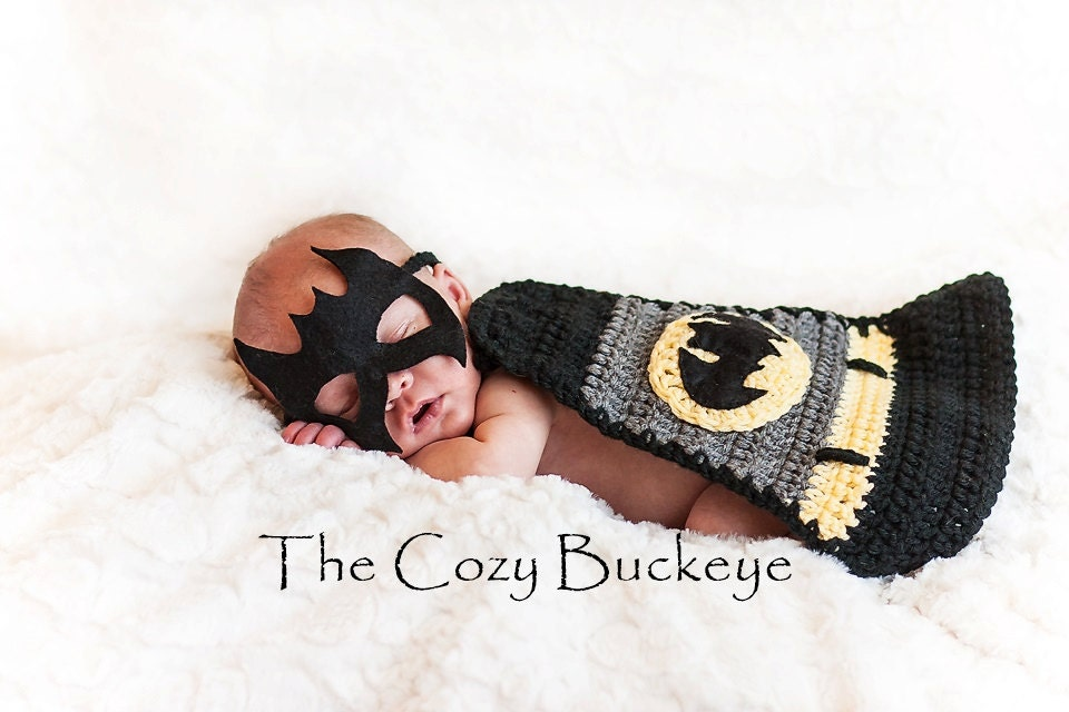 This is a digital file  sc 1 st  Etsy & Instant Download Crochet Pattern - Newborn Baby Batman Cape u0026 Mask ...