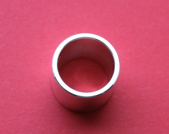 Sterling Silver Wide & Thick Polished Ring