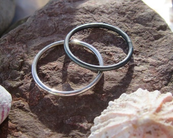 Sterling Silver Dainty Stacking / Thumb Ring - Set of 2