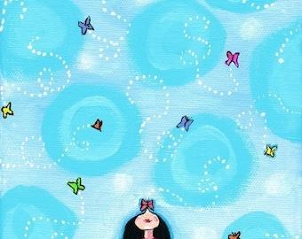 Butterfly Girl - Shelagh Duffett Print